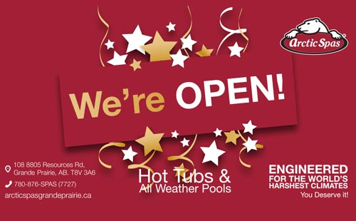 arctic spas grande priaire store now open!