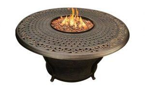 "Charleston 48"" Fire Table Cast Top Beads"